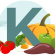 Food containing vitamin K — Stock Photo #37339871