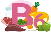 Products containing vitamin B6 — Stockfoto