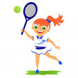 Girl tennis player — Stock Photo