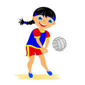 Girl plays volleyball — Stock Photo