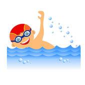 Chlapec plavec — Stock fotografie