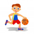 Stock Photo: Boy basketballer