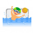 Stock Photo: Boy water polo player