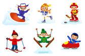 Set of winter sport — Stock Photo
