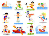 Set of summer sport — Stock Photo