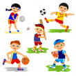 Stock Photo: Set of team sport