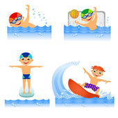 Set of water sport — Stock Photo