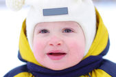 Baby in winter — Stock Photo