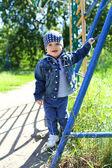 Little boy walking — Stock Photo