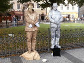 Living statues — Stock Photo