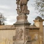 Statue of Saint John of Nepomuk at Church in Vtelno — Stock Photo #34475197