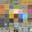 Set of 49 square textures, mostly seamless — Stock Photo