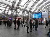 Dresden main railway station, Germany (2013-12-07) — Stock Photo
