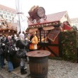 Christmas Market in Dresden on Altmarkt, Germany (2013-12-07) — Foto Stock