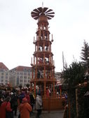Christmas Market in Dresden on Altmarkt, Germany (2013-12-07) — Stok fotoğraf