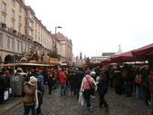 Christmas Market in Dresden on Altmarkt, Germany (2013-12-07) — Stock Photo