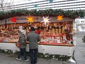 Christmas Market in Dresden on Altmarkt, Germany (2013-12-07) — Stock Photo