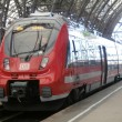 Stock Photo: Train in Dresden main railway station, Germany