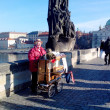 Organist on Charles Bridge, Prague, Czech Republic (2013-12-16) — Stock Photo #37394393