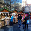 Stock Photo: Christmas market on Vaclavske namesti, Prague, Czech Republic