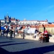Organist on Charles Bridge, Prague, Czech Republic (2013-12-16) — Stock Video #37457215