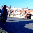 Organist on Charles Bridge, Prague, Czech Republic (2013-12-16) — Stock Video #37458011