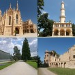 Stock Photo: Collage of landmarks of Lednice in Moravia