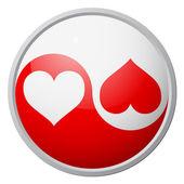 Yin-yang heart symbol — Stock Vector