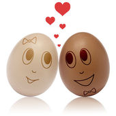 Eggs in love — Stock fotografie