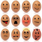 Egg smileys — Stock Photo