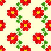 Heart flower seamless wallpaper — Stock Vector