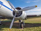Old airplane engine — Stock Photo