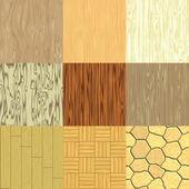 Set van naadloze hout gegenereerde texturen — Stockfoto