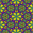 Seamless floral kaleidoscope wallpaper — Stock Photo