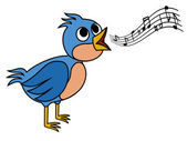 Singing bird — Stock Vector