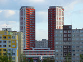Prague Twin Towers — Stock Photo
