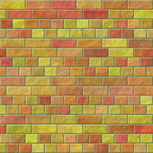 Mur z cegły bez szwu generowane tekstury wynajmuje — Zdjęcie stockowe