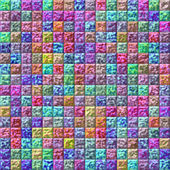 Colorful glazed tiles seamless generated hires texture — Stock Photo