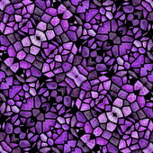 Glass mosaic kaleidoscopic seamless generated hires texture — Stock Photo