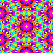 Kaleidoscopic mosaic seamless generated hires texture — Stock Photo