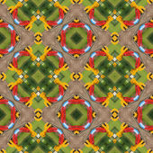 Kaleidoscopic playground seamless generated texture — Стоковое фото