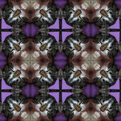 Kaleidoscopic cat seamless generated hires texture — Stock Photo