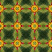 Kaleidoscopic abstract seamless generated texture — Stockfoto
