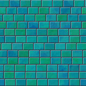 Brick wall seamless generated hires texture — Stock Photo