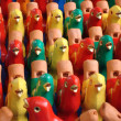 Colorful bird statues pattern — Stock Photo