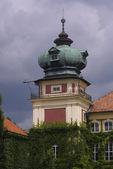 Věž łańcut zámku — Stock fotografie
