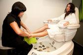 Masaje de pies. tratamiento de spa. — Foto de Stock