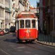 Touristic red tram — Foto de Stock