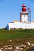 Lighthouse on top of hill in Cabo da Roca — Стоковое фото