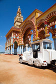 "Touristic train in ""Feria of Cordoba"" — Stock Photo"